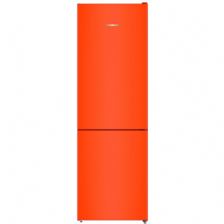 LIEBHERR CNNO4313  Freestanding fridge freezer with  a 3 drawer freezer in neon orange